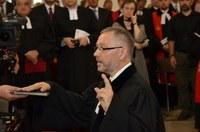 Gáncs Péter elnök-püspök beiktatta hivatalába a Nyugati (Dunántúli) Evangélikus Egyházkerület megválasztott püspökét, Szemerei Jánost